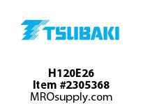 US Tsubaki H120E26 HT Cross Reference H120E26 QD SPROCKET HT