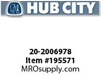 HUBCITY 20-2006978 5H 15.22/1 S B2 3.438 PARALLEL SHAFT DRIVE