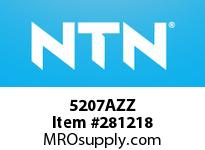 NTN 5207AZZ DOUBLE ROW ANGULAR CONTACT BB