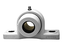 AMI UCPPL208-24MZ2CW 1-1/2 ZINC WIDE SET SCREW WHITE PIL PLSTCPILLOWBLOCK & OPEN COVERS