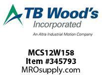 TBWOODS MCS12W158 MCS-12WHDX1 5/8 VAR SHEAVE