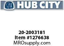 HubCity 20-2003181 5H 58.24/1 S A4-CL 3.438