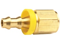 "DIXON 2740406C 1/4"" Hose ID x 3/8"" Female NPTF x Push-on Hose Barb Brass Dryseal"
