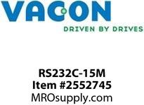 Vacon RS232C-15M 15 m/ 590.6 in RS232 serial link cable pin to pin Option