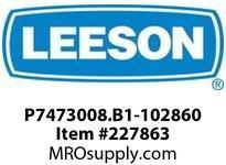 LEESON P7473008.B1-102860 GEARMOTOR 1274 IN-LBS @ 23 RPM TEFC 3PH 230/460V AC