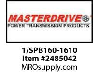 MasterDrive 1/SPB160-1610 1 GROOVE SPB SHEAVE