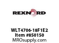REXNORD WLT4706-18F1E2 WLT4706-18 F1 T2P N1 WLT4706 18 INCH WIDE MATTOP CHAIN W