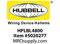 HBL_WDK HPLBL4800 LABEL 6PORT PANEL ADAPFRONTWH4800PK