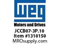 WEG JCCB07-3P.10 3P 7A AND 1NO CON CWC DC COIL Contactors