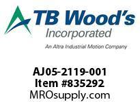 TBWOODS AJ05-2119-001 HUB AJ05 .4735/.4725NK CLB