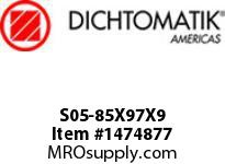 Dichtomatik S05-85X97X9 ROD SEAL NBR/NBR IMPREGNATED FABRIC ROD SEAL METRIC