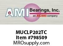 AMI MUCLP202TC 15MM STAINLESS SET SCREW TEFLON LOW SINGLE ROW BALL BEARING