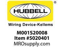 HBL_WDK M001S20008 LINKOSITY PSDA 20A 1-G BOX SINGLE REC