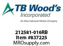 TBWOODS 212581-016RB CPL GA2 1/2 RB X RB EB