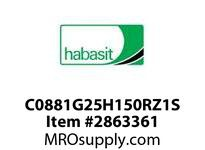 "Habasit C0881G25H150RZ1S 881-25T X 1-1/2"" Split Sprocket with Keyway and Setscrew"