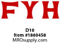FYH D10 CLOSED COVER