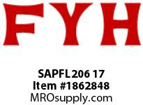 FYH SAPFL206 17 FLANGE UNIT-PRESSED STEEL ECCENTRIC COLLAR