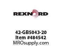 REXNORD 131080 42-GB5043-20 RTN*B+1.5DRP RUBDSC RG