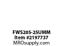 PTI FWS205-25UMM 4-BOLT FLANGE BEARING-25MM FWS 200 SILVER SERIES - NORMAL DUTY
