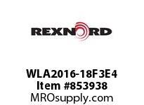 REXNORD WLA2016-18F3E4 WLA2016-18 F3 T4P WLA2016 18 INCH WIDE MATTOP CHAIN W