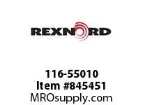 REXNORD 116-55010 GUIDERAIL CLAMP DOUBLE GUIDE RAIL CLAMP DOUBLE