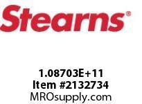 STEARNS 108703200128 BRK-RL TACH MACHSPLN HUB 8096333