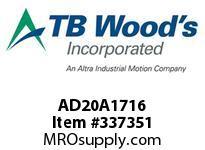 TBWOODS AD20A1716 HUB AD20-1 7/16 DIA 3/8 KW