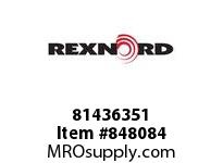 REXNORD 81436351 WHT8505-4.5 DTS PT RH WHT8505 4.5 INCH WIDE MOLDED-TO-WID