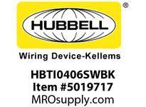 HBL_WDK HBTI0406SWBK WBPRFRM RADI INTER 4Hx6W BLACKSTLWLL