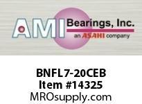 AMI BNFL7-20CEB 1-1/4 NARROW SET SCREW BLACK 2-BOLT PLASTIC HSG W/C.C & BS
