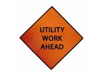 "Cortina 07-800-3059 36"" Diamond Grade - Utility Work Ahead"