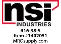 NSI R16-38-S 16-14 AWG BARE RING 3/8 STUD SMALL DISPLAY PACK(20)
