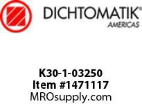 Dichtomatik K30-1-03250 PISTON SEAL PTFE SQUARE CAP PISTON SEAL WITH NBR 70 DURO O-RING INCH