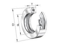 INA D8 Thrust ball bearing