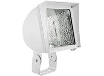 RAB FXH100TQTW/PC FLEXFLOOD 100W MH QT HPF TRUNNION + LAMP + 120V PC WHT