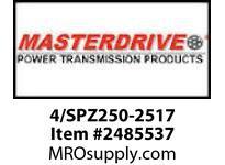 MasterDrive 4/SPZ250-2517 4 GROOVE SPZ SHEAVE