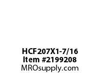 PTI HCF207X1-7/16 4-BOLT FLANGE BEARING-1-7/16 HCF 200 GOLD SERIES - NORMAL DUTY -
