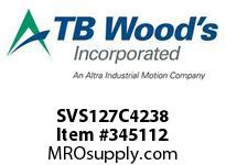 TBWOODS SVS127C4238 SVS-127-C4X2 3/8 ADJ SHEAVE