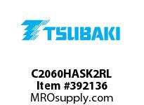US Tsubaki C2060HASK2RL C2060HAS K-2 ROLLER LINK