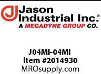 Jason J04MI-04MI ADAPTOR MALE JIC X MALE JIC
