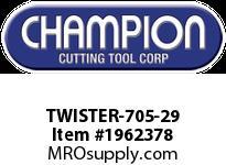 Champion TWISTER-705-29 1/16-1/2 X 64THS SET