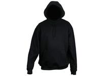 MCR SS2BKX2 FR Hooded Sweatshirt 100% Cotton Interlock Fleece Black