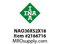 INA NAO30X52X18 Precision needle bearing