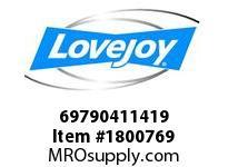 LoveJoy 69790411419 SX90-6 .751X1.376 KW BSE=8.5
