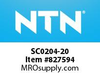 NTN SC0204-20 Bearing Units - Cast Covers