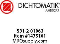 Dichtomatik S31-2-01063 ROD SEAL 40 PERCENT BRONZE FILLED PTFE BUFFER SEAL WITH NBR70 O-RING INCH - 5pc MINIMUM ORDER