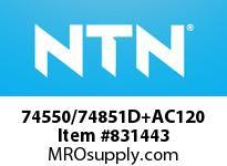 NTN 74550/74851D+AC120 TAPERED ROLLER BRG