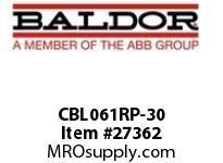 BALDOR CBL061RP-30 RAW POWER CABLE 30 AMP 20 FT