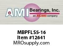 AMI MBPFLS5-16 1 STAINLESS NAR SET SCREW PRESSED S INPRESSED SS 2-B0LT FLANGE