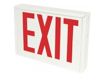Orbit NYESL-W-1-EB LED NY STEEL EXIT SIGN WHITE HOUSING 1F BAT B-UP